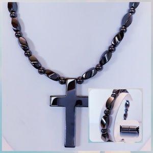 COPY - Magnetic Hematite Necklace Set